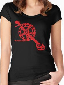 Cycling Crank Women's Fitted Scoop T-Shirt