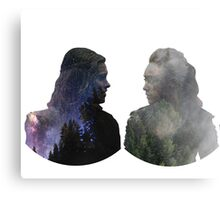Clexa - The 100 - Face to Face Metal Print