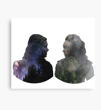 Clexa - The 100 - Face to Face Canvas Print