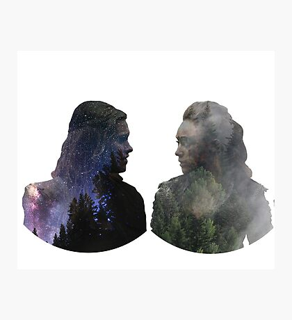 Clexa - The 100 - Face to Face Photographic Print