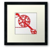 Cycling Crank Framed Print