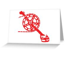 Cycling Crank Greeting Card