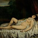 Gustave Courbet - Sleeping Nude by TilenHrovatic