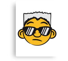 Cool guy sunglasses face smiley Canvas Print