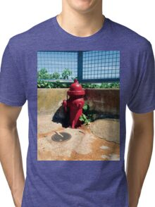 Collection: American Firehydrants: 3 Tri-blend T-Shirt