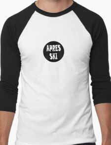 apres ski, ski, party, winter, snowboard,ride,hut Men's Baseball ¾ T-Shirt