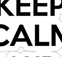 Keep calm an run on Sticker