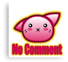No Comment Kitten with White Background Canvas Print