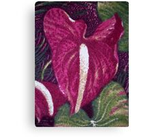 Red Orchid Print Canvas Print