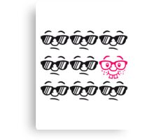 Be Different Nerd Geek Cool Hipster Lustig Gesicht Canvas Print