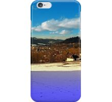 Colorful winter wonderland with clouds | landscape photography iPhone Case/Skin