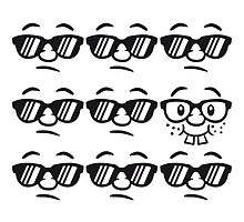 Be Different Nerd Geek Cool Hipster Lustig Gesicht by Style-O-Mat