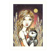 Puffin Kin Art Print