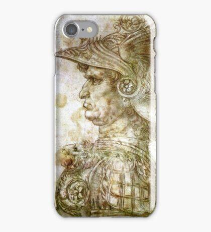 Leonardo da Vinci Man in Armour iPhone Case/Skin