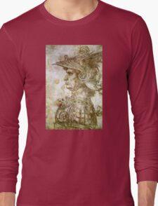 Leonardo da Vinci Man in Armour Long Sleeve T-Shirt
