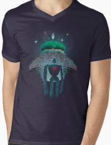Night Castle in the Sky Mens V-Neck T-Shirt