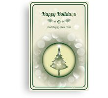 Beautiful Christmas Card - Merry Christmas and Happy New Year Canvas Print