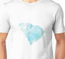 South Carolina Silhouette Blue Unisex T-Shirt