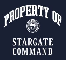 Property of Stargate Command Athletic Wear White ink One Piece - Short Sleeve