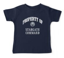 Property of Stargate Command Athletic Wear White ink Baby Tee