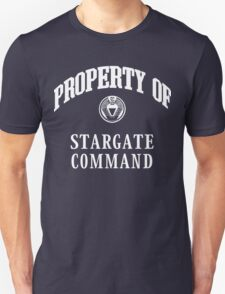 Property of Stargate Command Athletic Wear White ink T-Shirt