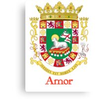 Amor Shield of Puerto Rico Canvas Print