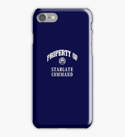 Property of Stargate Command Athletic Wear White ink iPhone Case/Skin