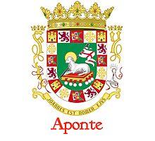 Aponte Shield of Puerto Rico Photographic Print