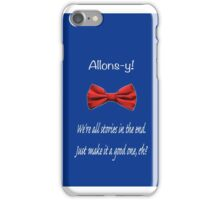 Dr. Who Bowtie & Quote iPhone Case/Skin