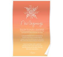 Affirmation - New Beginnings Poster