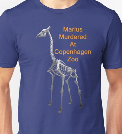 Marius Murdered At Copenhagen Zoo, T Shirts & Hoodies. ipad & iphone cases Unisex T-Shirt