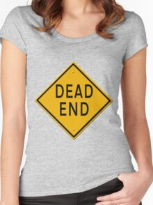 Dead End road sign Women's Fitted Scoop T-Shirt