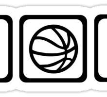 Basketball player ball Sticker