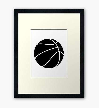 Black basketball Framed Print