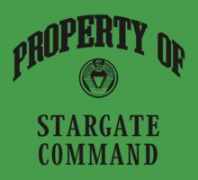 Property of Stargate Command Athletic Wear Black ink One Piece - Short Sleeve
