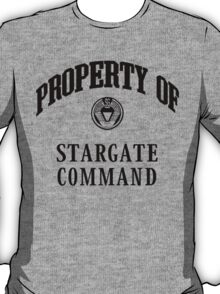 Property of Stargate Command Athletic Wear Black ink T-Shirt