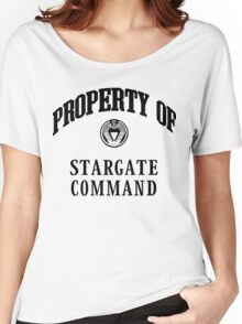 Property of Stargate Command Athletic Wear Black ink Women's Relaxed Fit T-Shirt