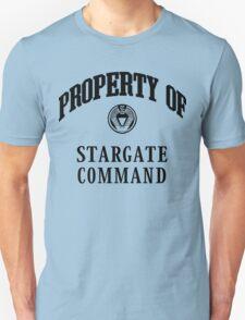 Property of Stargate Command Athletic Wear Black ink Unisex T-Shirt