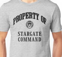Property of Stargate Command Athletic Wear Black ink Unisex T-Shirt