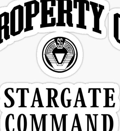Property of Stargate Command Athletic Wear Black ink Sticker