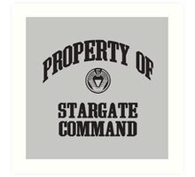 Property of Stargate Command Athletic Wear Black ink Art Print