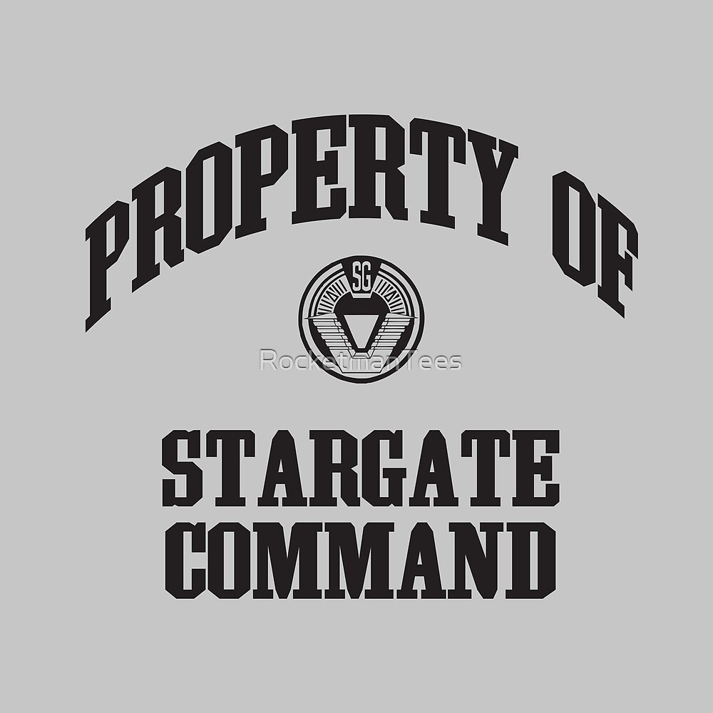 Property of Stargate Command Athletic Wear Black ink by RocketmanTees