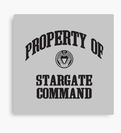 Property of Stargate Command Athletic Wear Black ink Canvas Print