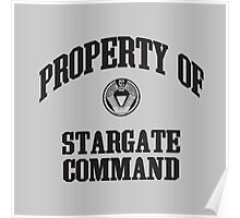 Property of Stargate Command Athletic Wear Black ink Poster
