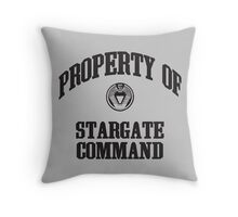 Property of Stargate Command Athletic Wear Black ink Throw Pillow