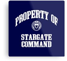 Property of Stargate Command Athletic Wear White ink Metal Print