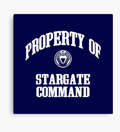 Property of Stargate Command Athletic Wear White ink Canvas Print