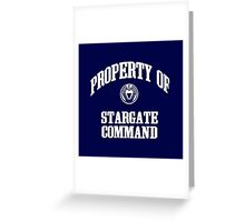 Property of Stargate Command Athletic Wear White ink Greeting Card