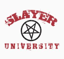SLAYER UNIVERSITY - RED LETTERS - BLACK PENTAGRAM by Endlessgrief