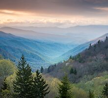 Oconaluftee Valley Overlook Great Smoky Mountains by MarkVanDyke